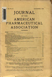Journal of the American Pharmaceutical Association: Volume 7, Issue 11
