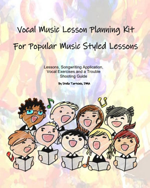 Vocal Music Lesson Planning Kit For Popular Music Styled Lessons