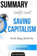 Download Robert B  Reich s Saving Capitalism Book