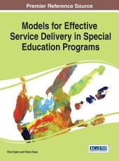 Models for Effective Service Delivery in Special Education Programs PDF