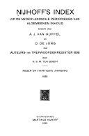 Nijhoff s index op Nederlandse en Vlaamse periodieken PDF