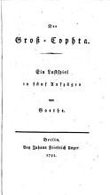 Der    Gro   Cophta  Ein Lustspiel in 5 Aufz PDF