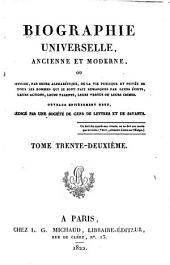 Biographie universelle, ancienne et moderne, etc: Volume32