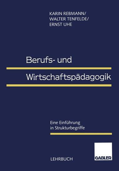 Berufs  und Wirtschaftsp  dagogik PDF
