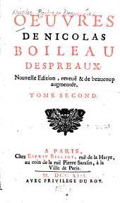 Oeuvres de Nicolas Boileau Despreaux: Volume2