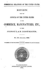 Consular Reports: Commerce, Manufactures, Etc, Volume 5