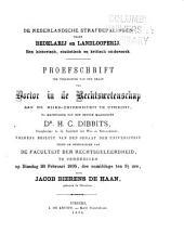 De nederlandsche strafbepalingen tegen bedelarij en landlooperij: een historisch, statistisch en kritisch onderzoek