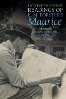 Twenty First Century Readings of E  M  Forster s  Maurice  PDF