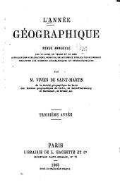 L'Année géographique: Volumes3à4
