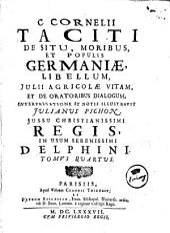 C. Cornelij Taciti Opera: Volume 4