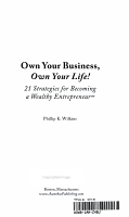 Own Your Business  Own Your Life  PDF