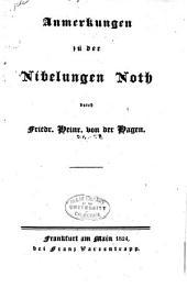 Anmerkungen zu der Nibelungen Noth