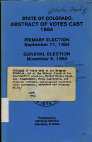 Abstract of Votes Cast at the Primary Election  and at the General Election for Presidential Electors  United States Senators  Congressmen  State  Legislative and District Officers  and Proposed Constitutional Amendments  Initiated and Referred Bills PDF