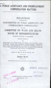 Public Assistance and Unemployment Compensation Matters PDF