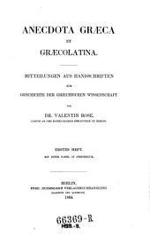 Anecdota Graeca et Graecolatina