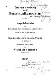 Über den Vorvertrag bei den Konsensualkontrakten