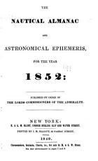 The Nautical Almanac   Astronomical Ephemeris  for the Year PDF