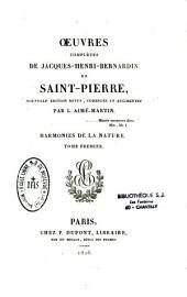 Oeuvres complètes de Jacques-Henry-Bernardin de Saint-Pierre