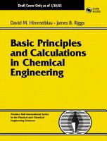 Basic principles and Calculations in Chemical Engineering      PDF