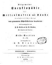 Allgemeine Encyklopädie der Wissenschaften und Künste: in alphabetischer Folge. ¬Section ¬1, A - G ; Theil 30, Eberhard - Ecklonia. 1,30