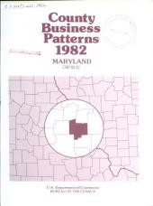 County Business Patterns: Maryland, Volume 3