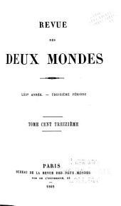 Revue des deux mondes: Volume113;Volume221