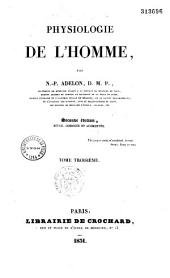Physiologie de l'homme: Volume3