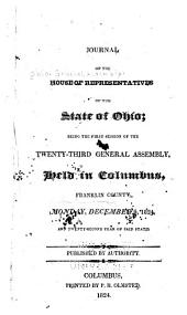 Journal of the House of Representatives of the State of Ohio: Volume 23