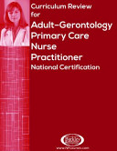 Curriculum Review for Adult Gerontology Primary Care Nurse Practitioner National Certification PDF