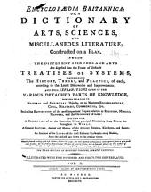Encyclopædia Britannica: Or, A Dictionary of Arts, Sciences, and Miscellaneous Literature, Volume 10, Part 1