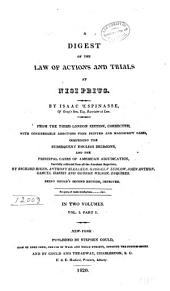 A Digest of the Law of Actions and Trials at Nisi Prius: Volume 1
