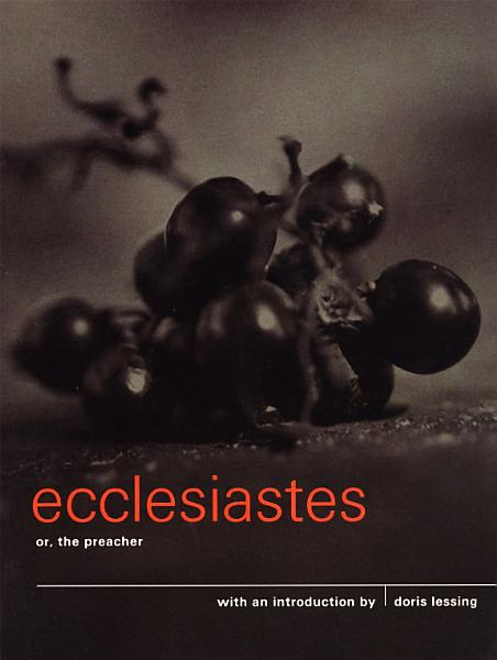 Download Ecclesiastes or  The Preacher Book