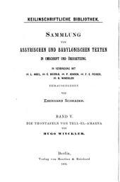 Keilinschriftliche Bibliothek: Die Thontafeln von Tell-el-Amarna