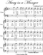 Away In a Manger Easiest Piano Sheet Music