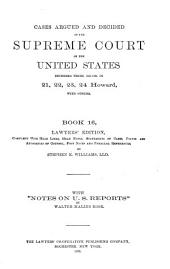 Reports of Cases Argued and Decided in the Supreme Court of the United States: Book 16