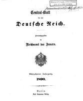 Cental blatt f  r das Deutsche Reich PDF