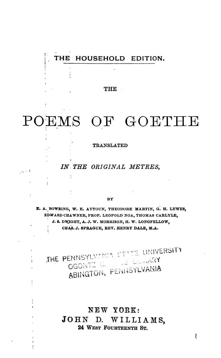 Goethe's Works: Wilhelm Meister's apprenticeship and travels. From the German by T. Carlyle