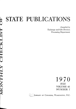 Monthly Check list of State Publications PDF