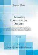 Hansard s Parliamentary Debates  Vol  28 PDF