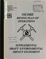 Siskiyou National Forest  N F    Nicore Mining Project  Implementation  Plan of Operations  Mining of Four Sites  Road Construction  Reconstruction  Hauling and Stockpiling of Ore  Rough and Ready Creek Watershed PDF