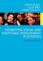 Promoting Emotional and Social Development in Schools PDF