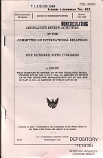 Legislative Review Activities of the Committee on International Relations PDF