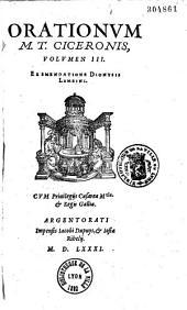 Orationes ex emendatione Dionys Lambini