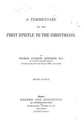 A Commentary on the First Epistle to the Corinthians: Volume 38; Volume 189