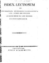 Index lectionum in Universitate Studiorum Jagellonica