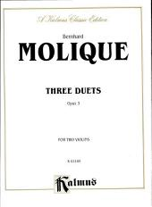 Three Duets, Op. 3: String - 2 Violins