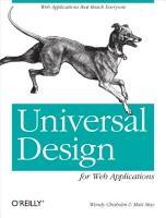 Universal Design for Web Applications PDF