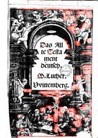 Das Allte Testament de  tsch PDF