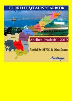 APPSC Current Affairs Andhra Pradesh Yearbook 2019 PDF