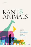 Kant and Animals PDF